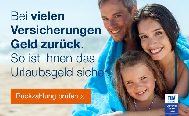 BEI vielen Versicherungen Geld Zuruck. So ist ihnen das Urlaubsgeld Sicher | Rückzahlung prüfen>>